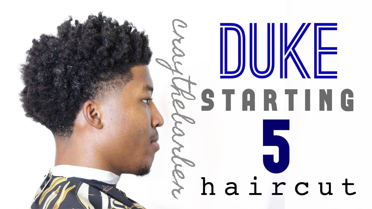 Duke Starting 5 Haircut Bald Taper With Curls