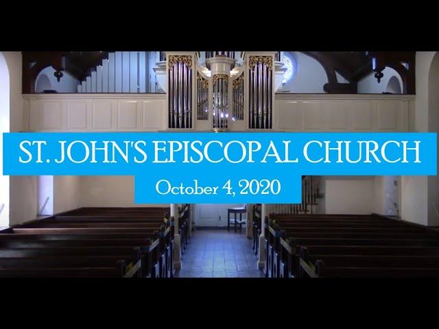 St. John's indoor service October 4, 2020