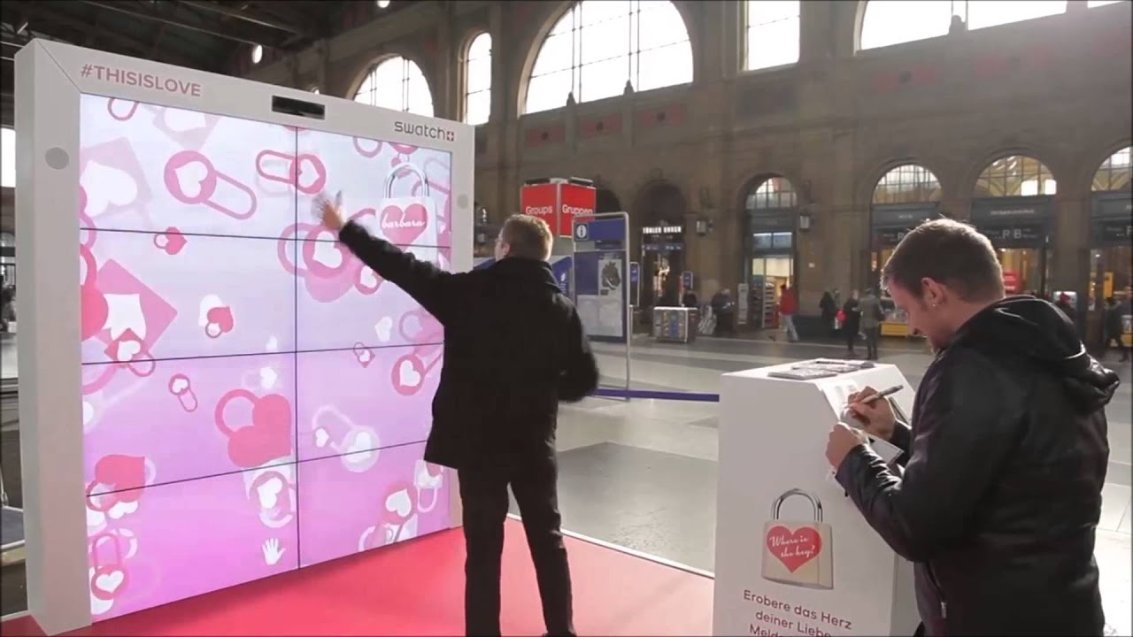 Swatch Interactive Experience For Valentines 2015 YouTube