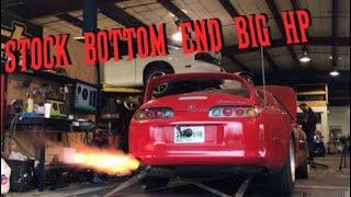 Stock Bottom End 2JZ Supra Makes BIG Horsepower