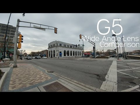 Testing the G5's Wide Angle Lens Camera