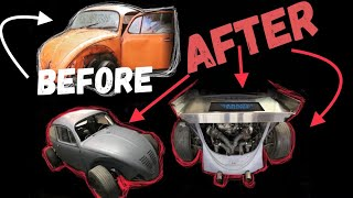 TURBO HONDA POWERED VW BUG Build in 10 MINUTES ish (11:00)