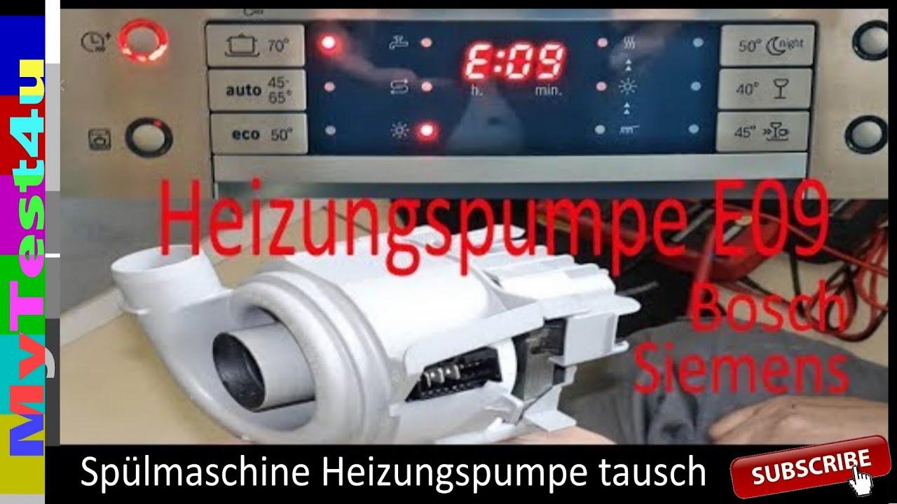e09 sp hlmaschine austausch heizungspumpe bosch youtube