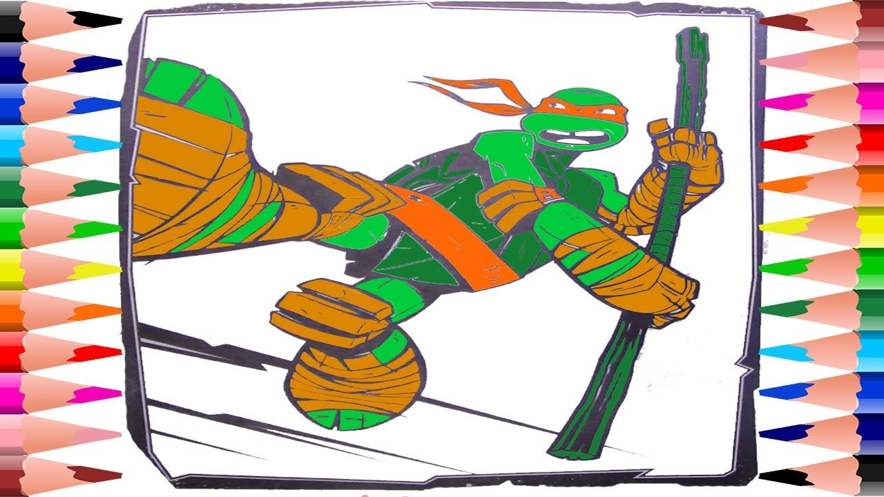 Painting Teenage Ninja Mutant Turtles Coloring Pages - Coloring ...