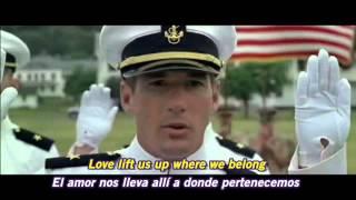 A OFFICER AND A GENTLEMAN - UP WHERE WE BELONG Subtitulos Español & Ingles