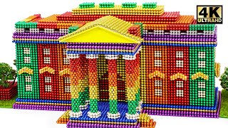 DIY - How To Build Rainbow White House From Magnetic Balls ( Satisfying ) | Magnet World 4K