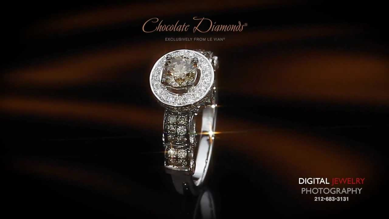chocolate diamond and ring white wedding le certified rings bridal vian