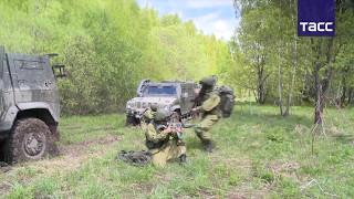 Разведчики ВДВ отработали учения с применением бронеавтомобиля  Рысь