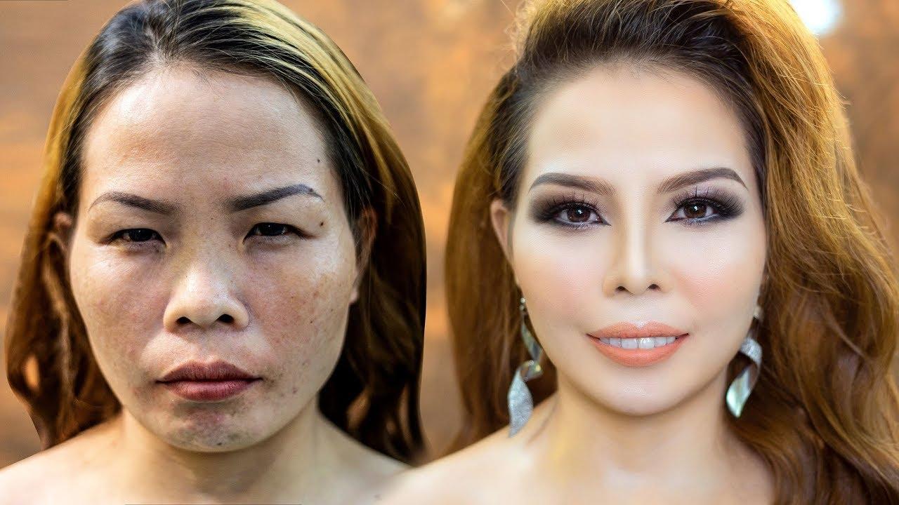 Trang Điểm Khắc Phục 2 Mắt Xa Nhau,Gò Má Cao, Mắt Nhỏ / Hùng Việt Makeup