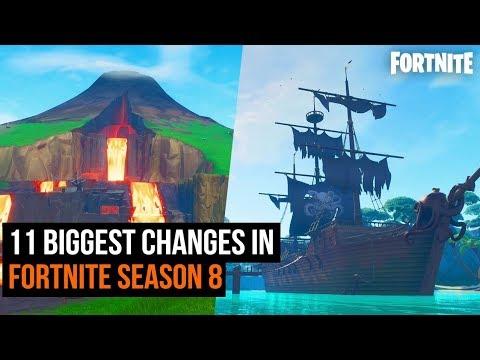 11 Biggest Changes In Fortnite Season 8 thumbnail