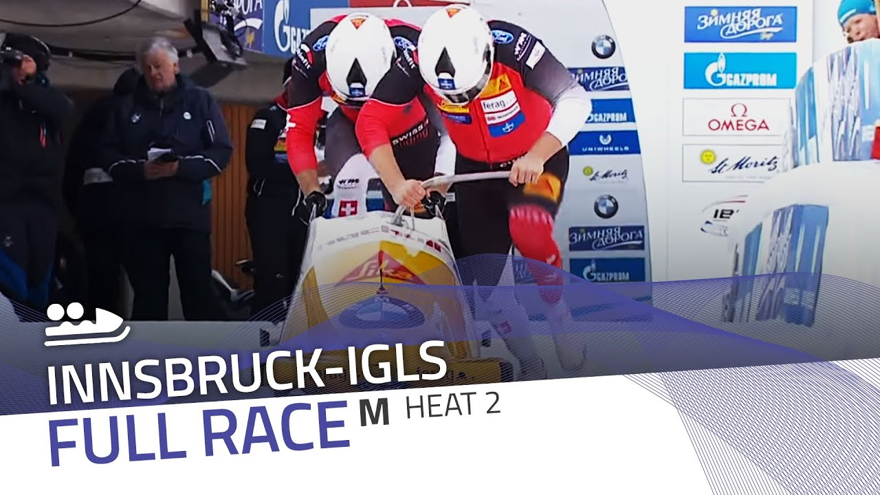 Innsbruck-igls | bmw ibsf world championships 2016 - 2-man bobsleigh heat 2 | ibsf official