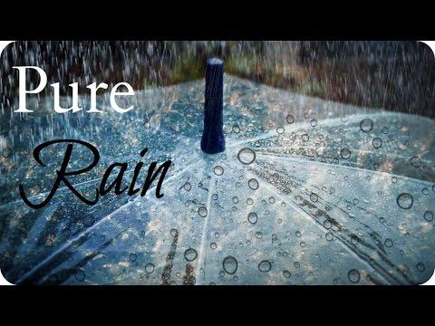 ASMR Relaxation 💦 Rain Falling on an Umbrella - 1 Hour Sleep & Study Aid (White Noise, No Thunder)