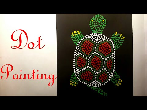 Dot Painting   Schildkröte   Speed drawing   Painting Art