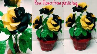 DIY Cara Membuat Bunga Mawar dari Plastik Kresek | How to make rose flower from plastic bags