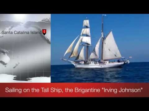 Sailing on the brigatine tall ship Irving Johnson - KE6RJ