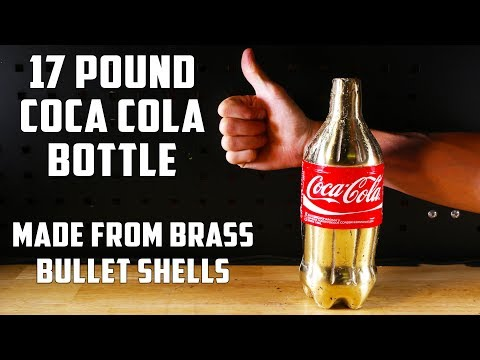 Thumbnail: Casting a Solid Brass Coca-Cola Bottle from empty bullet shells