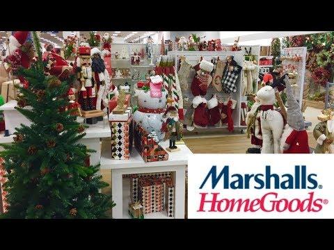 MARSHALLS HOME GOODS CHRISTMAS DECORATIONS CHRISTMAS DECOR SHOP WITH ME SHOPPING STORE WALK THROUGH