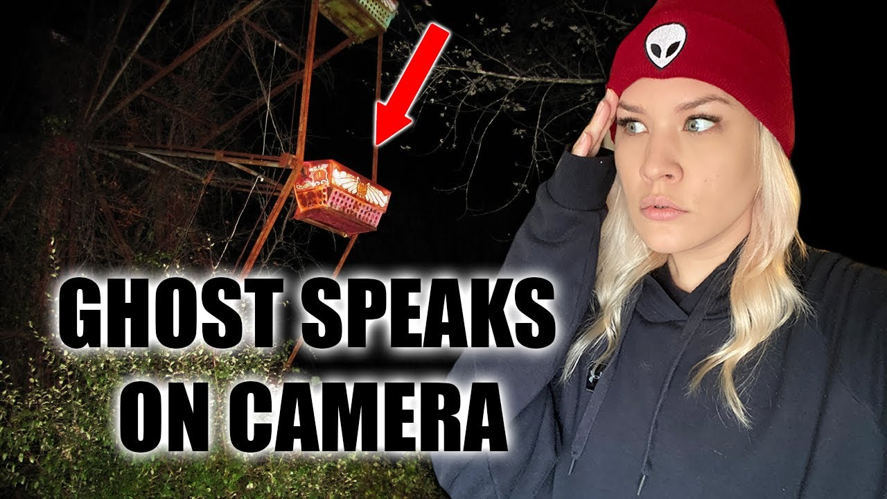 REAL GHOST SPEAKS TO US AT HAUTNED ABANDONED AMUSEMENT PARK