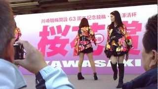 川崎純情小町 LIVE 2012.4.8 川崎競輪場にて。 競輪客のおじさんやお爺...