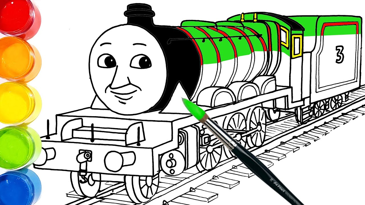 How-to-draw Henry The Green Engine in Thomas & Friends . Drawing and Coloring Pages | Tim Tim TV