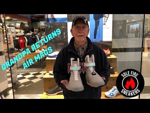Dziadek prankuje sklepy z kicksami. Chce zwrócić Nike Air Mag!