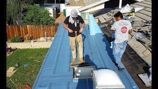 Roofing a Flat Roof with new pitch and installation of  Certainteed Flintastic Roofing