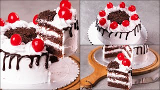 BLACK FOREST CAKE RECIPE  EGGLESS &amp WITHOUT OVEN