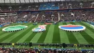 WoW! Suasana pembukaan piala dunia 2018 Russia,the opening ceremony of the 2018 World Cup Russia