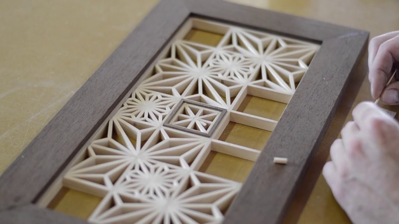 Kumiko Wall Art Japanese Woodworking Youtube
