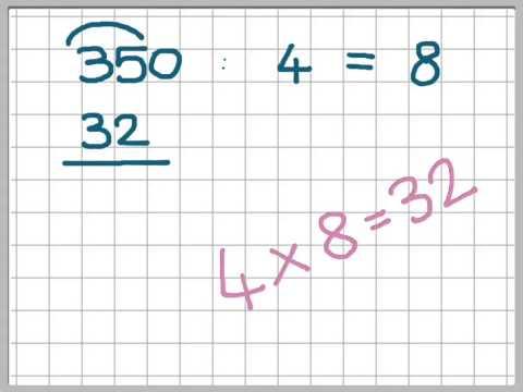 Divisioni in colonna con una cifra al divisore