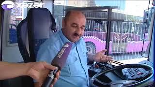 Özünü polis kimi təqdim edən şəxs avtobusun açarını qıraraq qaçıb