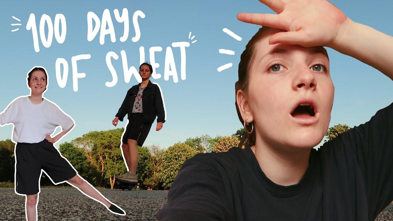 100 DAYS OF SWEAT | fitness challenge
