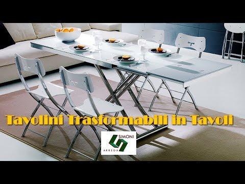 Tavolini trasformabili in tavolo by simoni arreda youtube for Simoni arreda milano