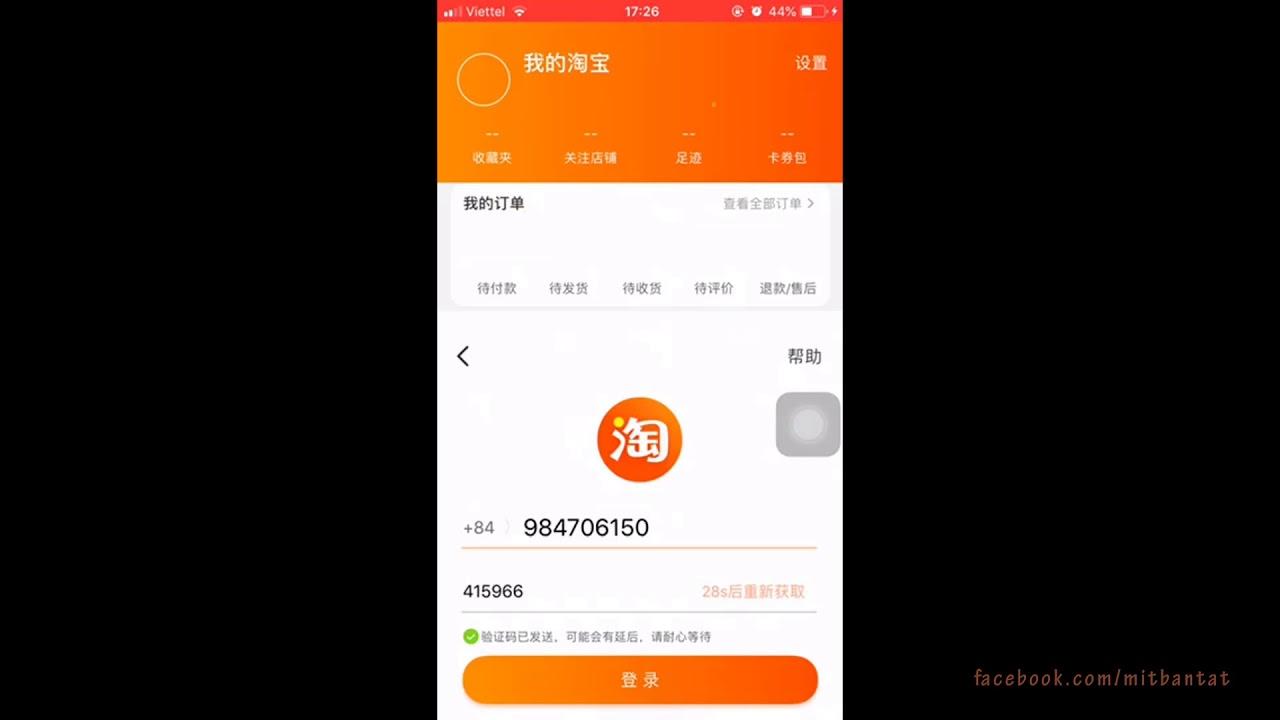 Tải app Taobao trên điện thoại Iphone & cài đặt cấu hình