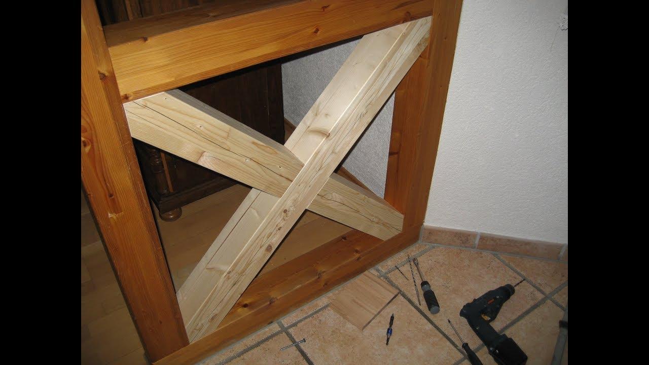 Raumteiler Fachwerk Fachwerkwand Mit Kreuz Erweitern