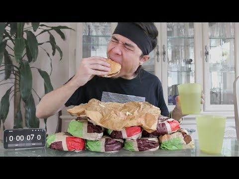 10 Whopper Challenge (fastest time ever)