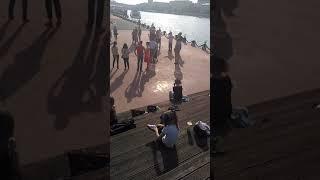 Урок танго в Парке Горького в День Города. Школа ТангоСити.