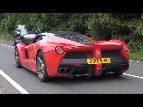 Ferrari Laferrari Exhaust Sound Cold Start Accelerations And Driving In The Uk