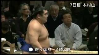 2012年大相撲初場所の玉飛鳥関。8勝7敗・勝ち越しおめでとう!! ※対戦...