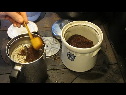 Making Coffee In A Percolator
