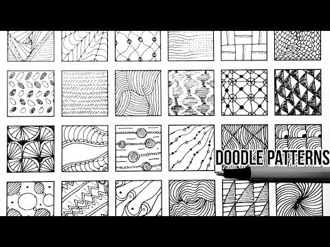 24 Doodle Patterns Part 5 Speed Up Drawing Doodle Art Youtube