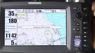 Navionics Humminbird Setting Waypoints
