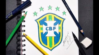 HOW TO DRAW THE BRAZIL LOGO - STEP  BY STEP TUTORIAL
