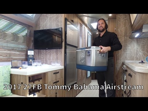 Walk Through 2017 Airstream Tommy Bahama 27FB Travel Trailer Relax Edition RV Camper