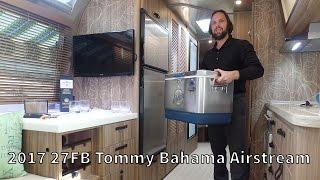 Walk Through 2017 Airstream Tommy Bahama 27FB Travel Trailer Relax Edition RV Camper