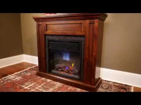 The Roswell Infrared Electric Fireplace offers the best of both worlds