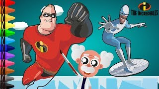 MR INCREDIBLE VS FROZONE! (Incredibles 2 Coloring Page)