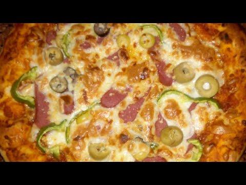 صورة  طريقة عمل البيتزا سر عمل بيتزا المحلات🍕🍕 بكل تفاصيلها من اول العجينه والصلصة والتسوية وهتطلع معاكي تجنننننننننننننن طريقة عمل البيتزا من يوتيوب