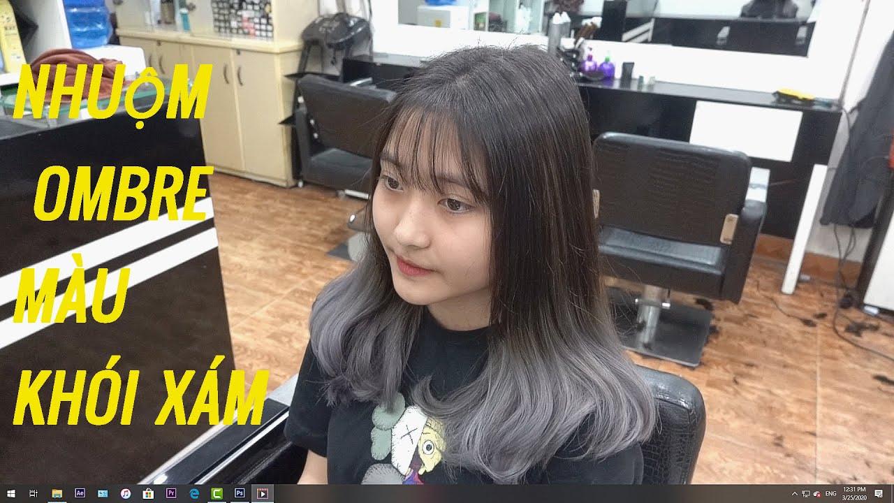 Dạy nhuộm tóc, hướng dẫn nhuộm kiểu tóc Ombre / Tẩy tóc và nhuộm màu khói.   Tất tần tật các nội dung về toc ombre chuẩn nhất