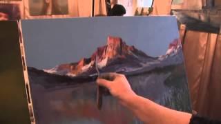 Видеоурок Сахарова Как научиться рисовать горы,свет живопись для начинающих, уроки рисования